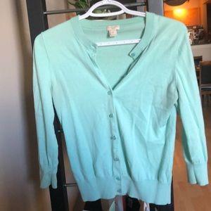 J Crew - turquoise cardigan